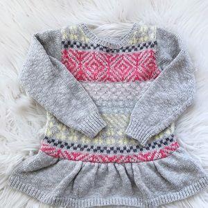 Cat & Jack Fair Isle Peplum Sweater